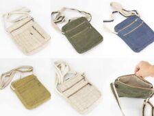 Unisex Handmade Cross Body Hemp Bag Organic Fiber Ecofriendly Vegan Shoulder Bag