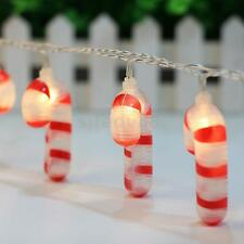 Christmas Candy Cane 10-LED Fairy String Light Party Lamp Outdoor Yard Decor