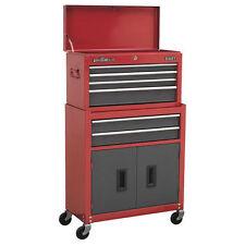 Sealey AP2200BB 6 Drawer Topchest U0026 Rollcab Combination   Red/Grey