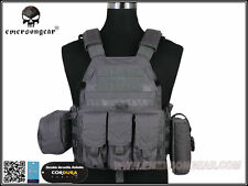EMERSON LBT-6094A Style Tactical Vest With Pouch Set (Wolf Grey) EM7440WG