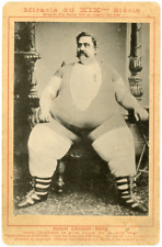 Henri cannon-berg, l the heaviest man in the world, ca.1890, vintage albumen prin