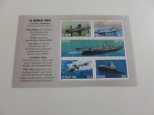 United States Scott # 3373 - 3377, the Navy Submarines Pane 3377a  Mint