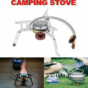 3500W Outdoor Picnic Gas Burner Portable Backpack Camp Hiking Mini Stove Cooker