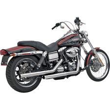 Vance & Hines Chrome Straighshots Slip-On Exhaust Mufflers 1991-2017 Harley Dyna
