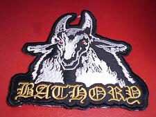 Bathory Goat Patch Black Viking Metal  Mercyful Fate Mayhem Desaster Mgla Plaga