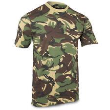 British Army Woodland DPM Camo Camouflage Short Sleeve Military T-Shirt S - XXL
