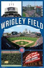 WRIGLEY FIELD - CHICAGO CUBS POSTER - 22x34 - MLB BASEBALL 15349