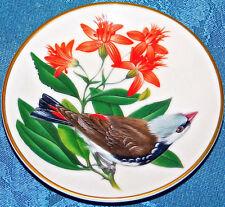Songbirds of The World Diamond Firetail Finch Audubon Franklin Mint Mini Plate