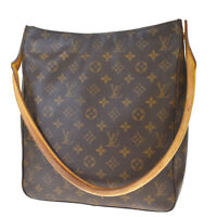 Auth LOUIS VUITTON Looping GM Shoulder Bag Monogram Leather Brown M51145 83MD881