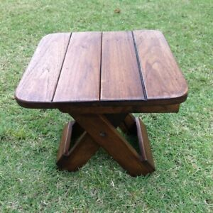Wooden Foldable Chair Teak Wood Stool Camping Chair