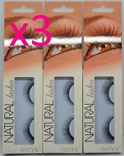 3 x Technic Natural Lashes False Eyelashes BC31 Comes with Glue