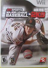 2K Sport Major league Baseball 2K9 for  Nintendo Wii  2009