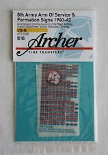 Archer 1/72 British 8th Army AoS & Formation Signs 1940-42 (Red/Wh/Blue) AR72068