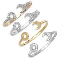 Markenlose Armbänder ohne Steine im Armreif-Stil aus Weißgold mit echtem Metall