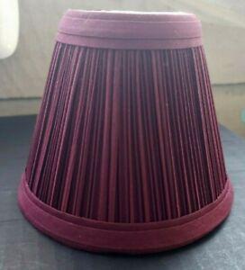 "Nice New Dark Burgundy Clip On Pleated Chandelier Lamp Shades 3"" X 4"" X 4"""