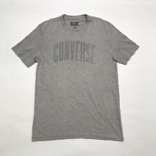 CONVERSE T Shirt Top Grey Short Sleeved Tee Crew Neck Cotton Stretch XS Men's