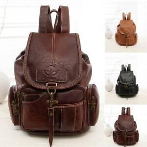 Women Leather Backpack Vintage Shool Shoulder Bag Ladies Backpack Handbag