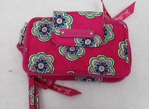 Vera Bradley Smartphone Wristlet 2.0 Pink Swirls Flowers NWT