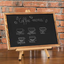 MyGift 18-Inch Burnt Wood Chalkboard with Tabletop Easel Stand