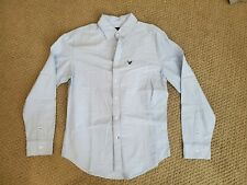 American Eagle Button Down Shirt Men's Medium Blue With Pocket
