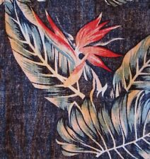 Stunning bird paradise monstera reverse print Hawaiian-made shirt XL by Molokai