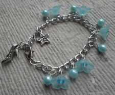 Handmade Bracelets ~ Little Girls ~ Aqua Charms