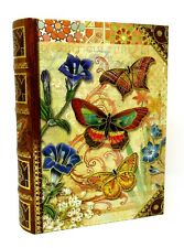 Punch Studio Keepsake Nesting Book Box Rustic Butterfly 51731 Medium Gold Foil