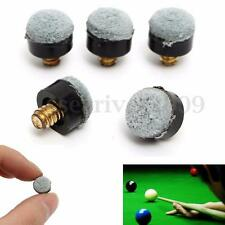 5 PCs 10mm Screw On Pool Billiard Snooker Cue Stick Tips Replacement Part