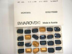 6 swarovski octagon stones,18x13mm montana,GF #4600
