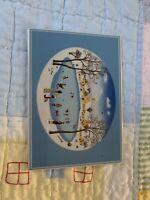 Villeroy Boch Naif Winter Scene Porcelain Card New