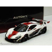 McLAREN P1 GTR (GLOSS WHITE/RED STRIPES) AUTOART MODEL 1/18 #81541