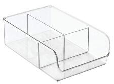 InterDesign 3 Compartments Plastic Fridge and Freezer Organizer (Clear) 57330