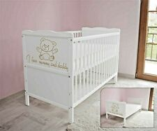 Wooden Baby Cot Bed & Foam Mattress✔Converts to Toddler Bed - I Love Mummy ...