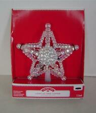 "7.5"" Iridescent Bead 5 Point Star Christmas Tree Topper~Double Sided~Multi Color"