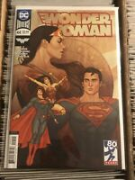 WONDER WOMAN 44 JENNY FRISON VARIANT COVER superman romance combine shipping!