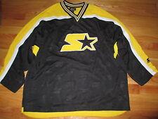 """Vintage """"Starter"""" V-Neck Pull-Over Hockey (LG) Jersey BRUINS COLORS"""