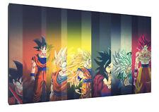 goku dragon ball z crue1 canvas wall art Wood Framed Ready to Hang XXL