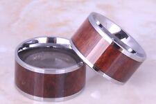 12mm tungsten ring with koa wood inlay, wedding band, wedding ring