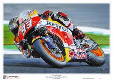 """Marc Márquez """"hormiga de Cervera"""" MotoGP Honda RC213V edición limitada de impresión de arte"""