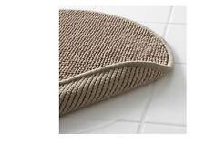 IKEA Round Badaren Bath Mat Rug Circular Beige 55cmD Ultra Soft Absorbent –NEW