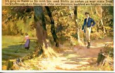 """uralte AK, Volksliederkarten von Paul Hey Nr. 62:""""Ich ging im Walde so für mich"""""""