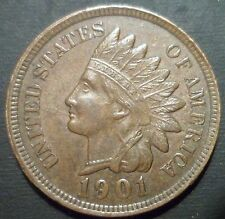 1901 BU BN Indian Head Cent Snow 3 BUY IT NOW ** ADDITIONAL COINS SHIP FREE **