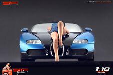 1/18 Lying girl blue dress figure VERY RARE !! for 1:18 CMC Autoart Minichamps