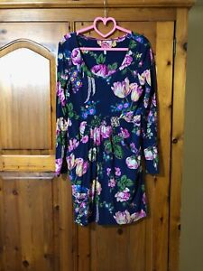 JOULES Navy Floral Dress Size 12