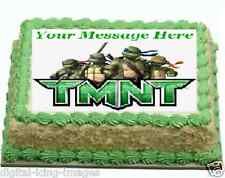 TMNT Teanage Mutant Ninja Turtles Cake topper edible image icing FONDANT A4