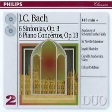 J.C. BACH : SINFONIAS, OP. 3 - PIANO CONCERTOS, OP. 13 / 2 CD-SET - TOP-ZUSTAND