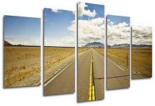 Cuadro Moderno Fotografico Carretera Desierto, Ruta 66, 165 x 62 cm ref. 26337