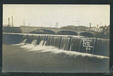SD Sioux Falls RPPC 1913 NEW CONCRETE 8th STREET BRIDGE & DAM Town View