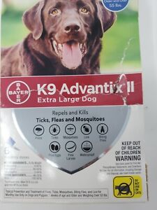 K9 Advantix II Flea and Tick Prevention for Extra-Large Dogs 6-Pack, Dam Box