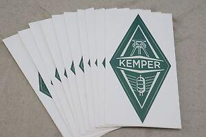 "Pack of 10 Kemper Profiler Amp Sticker Set Profiling 1-11/16"" x 3-7/16"" Diamond"